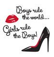 design for teenage girls girls rule the boys vector image