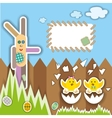 Easter scrapbook elements vector image