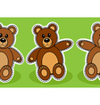 Seamless teddy bear pattern vector image