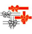 Set of satin ribbon bows vector image