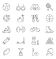 sport Line Art Isolated Icons Set vector image