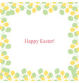 spring greeting card - happy easter vector image