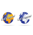 travel with planet in colorful vector image