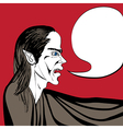 vampire talk vector image