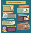How to sleep better infographics vector image