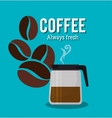 coffee maker pot glass beans graphic vector image