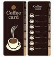 coffee card vector image vector image