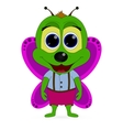 abstract cute green butterfly on a white vector image
