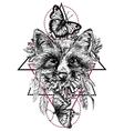 boho style animal vector image