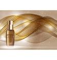 Skin Toner Bottle Template for Ads or Magazine vector image