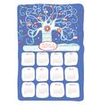 calendar 2014 snow tree vector image