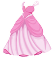 A beautiful pink dress vector image vector image