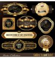 Set of golden luxury frames vector image