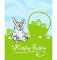 Cute little grey Easter Bunny vector image