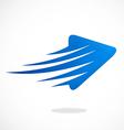 arrow abstract speed logo vector image