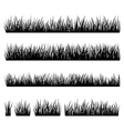 Set of silhouette of grass isolated on white backg vector image vector image