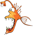 Deep-water fish Monkfish Cartoon vector image