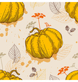 Orange pumpkin and leaves vector image vector image