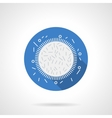 Microflora research blue round flat icon vector image