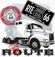 truck Route 66 vector image vector image