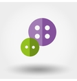Buttons icon Fl vector image