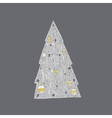 Christmas Tree Lettering vector image