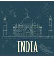 India landmarks Retro styled image vector image