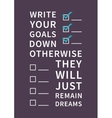 Quote for inspiration and motivation vector image