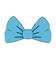 ribbon bowntie decorative icon vector image
