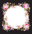 spring flowers border vector image