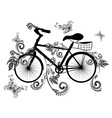 Bicycle and Floral Ornament2 vector image