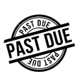 Past Due rubber stamp vector image