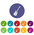 electric guitar set icons vector image