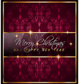 Christmas GoldFrame vector image vector image
