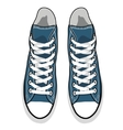 Isolated cartoon blue sneakers vector image