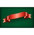 Red ribbon satin bow blank green vector image