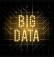 big data design concept visualization futuristic vector image