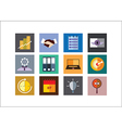 Business Color Flat Icons vector image