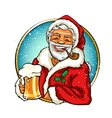 Christmas label with Santa vector image