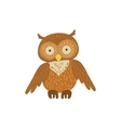 Cute Brown Own Sitting vector image