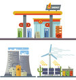Energy and Gas Station vector image