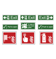 Fire and Emergency Exit Signs vector image