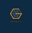 generics logo g monogram or letter vector image