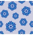 Seamless pattern blue boho chic vector image