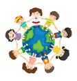 Kids around the world vector image