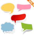 Speech bubbles - - EPS10 vector image vector image