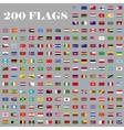 200 Flags set of the world vector image
