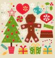 cute Christmas set vector image vector image