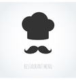 Chef hat and mustache abstract icon vector image