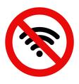 No Wifi sign vector image vector image
